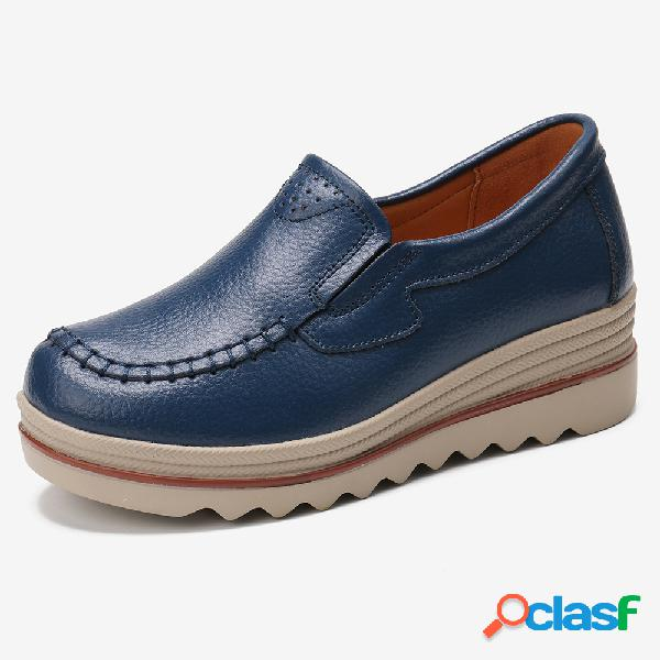 Zapatos de mujer con punta redonda y punta redonda