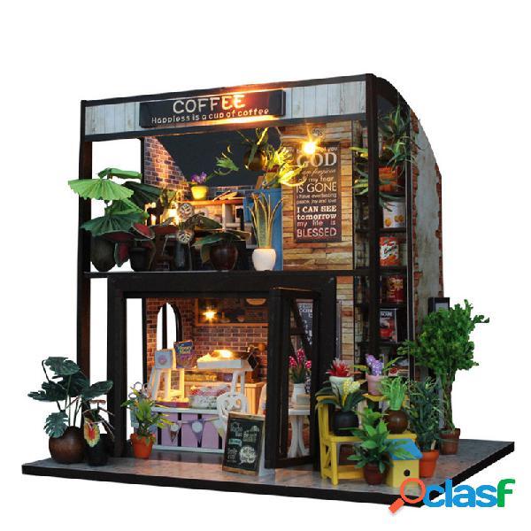 Casa de muñecas casa de muñecas casa de muñecas artesanal casa de muñecas hecha a mano con luz led