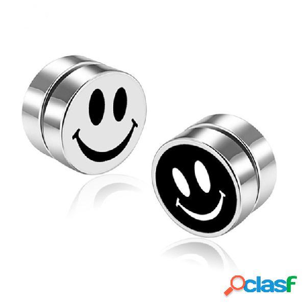Moda magnética sin pendientes para hombres perforados clip de acero inoxidable redonda en pendientes para mujeres