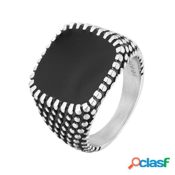 Anillos de dedo de moda drops lunares cuadrados geométricos anillos de acero inoxidable jewlery de moda para hombres