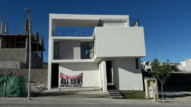 Casa nueva en privada lomas del pedregal san luis potosi