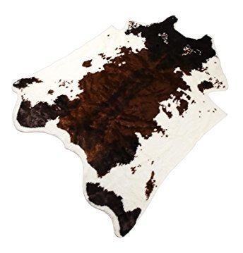 Alfombra de vaca de piel sinta©tica de piel de vaca 4.9x6.