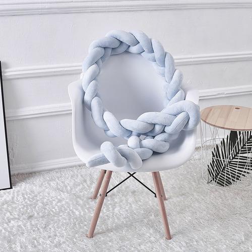 Almohada de felpa trenzada de estilo nórdico con nudo suave