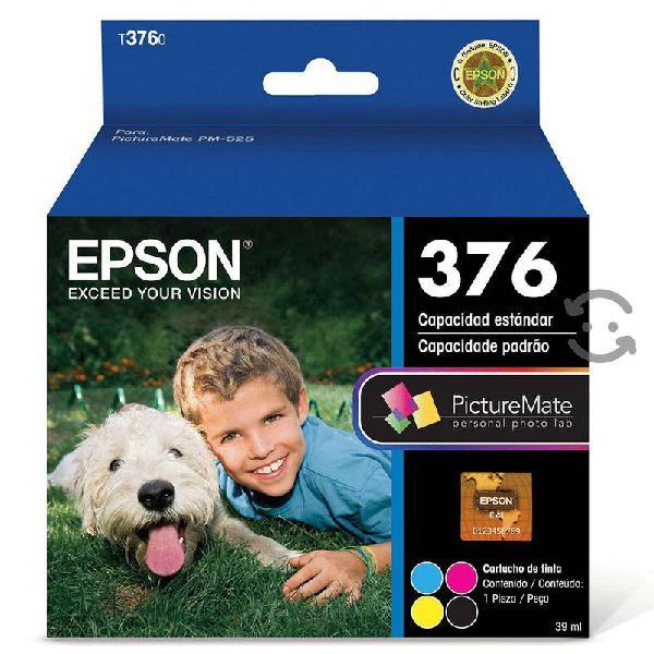 Cartucho epson modelo 376, 4 colores negro, cyan,