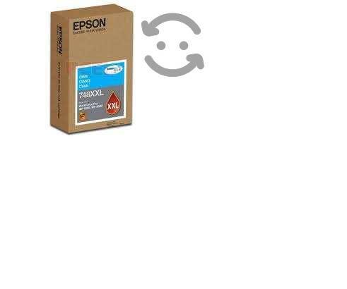 Cartucho epson modelo t748xxl cyan, para wf-6090,