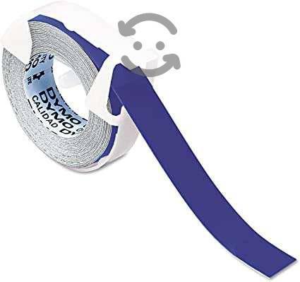Cinta plástica brillante rotulador color azul