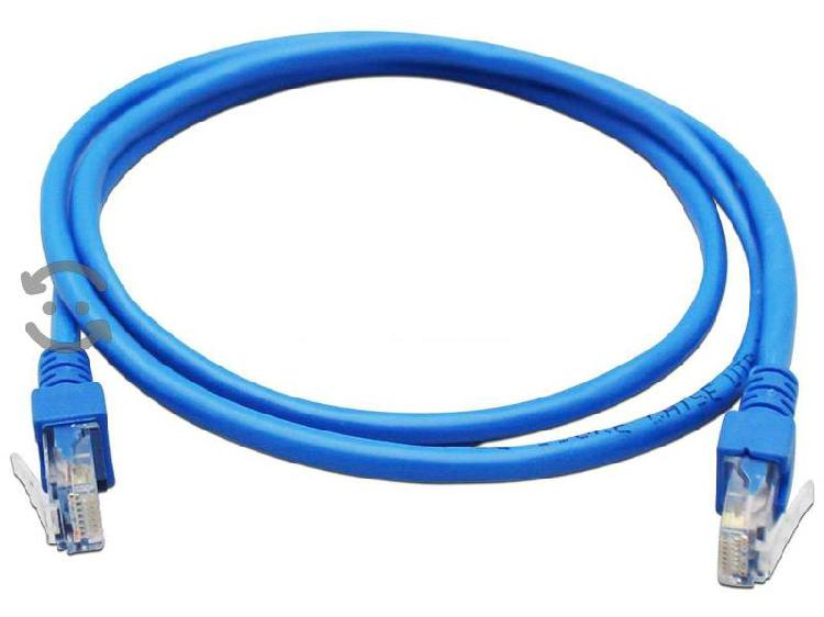 Cable red 1 mts rj45 cat 5e utp azul red internet