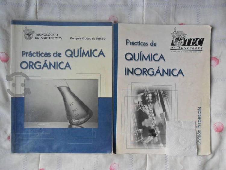 Libros prácticas de química orgánica e inorgánica