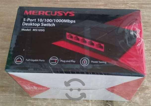 Switch de 5 puertos gigabit ethernet 10/100/1000