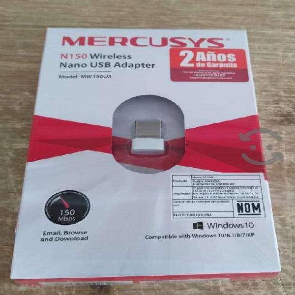 Tarjeta de red usb wifi marca mercusys 150mbps