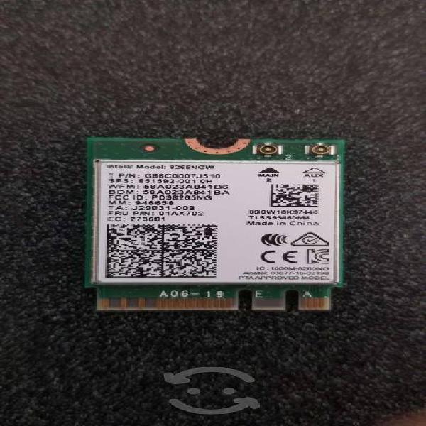 Tarjeta red wifi bluetooth intel 8265ngw