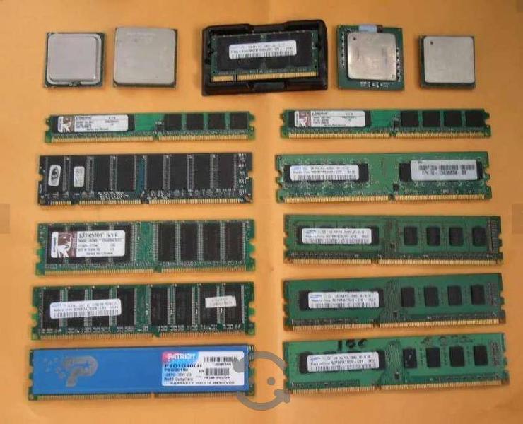 Varias memoria ram pc, tanbien microprocesadores