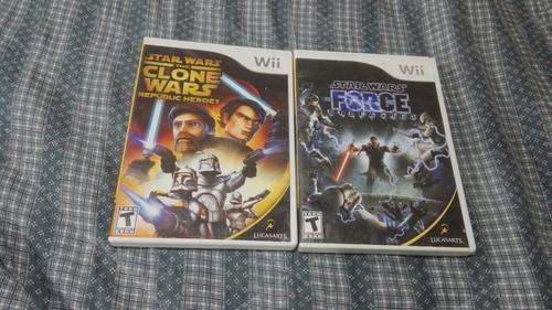 2 X 299 Pesos Juegos Star Wars Nintendo Wii Seminuevos