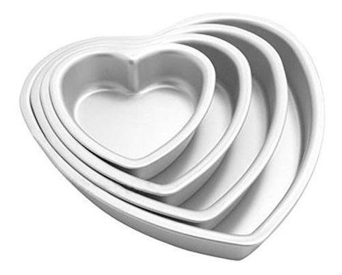 Agileshop 4 piezas de aluminio en forma de corazã³n juego