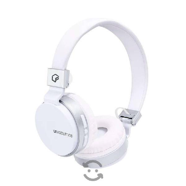 Audífonos diadema bluetooth 12 hrs blanco cel