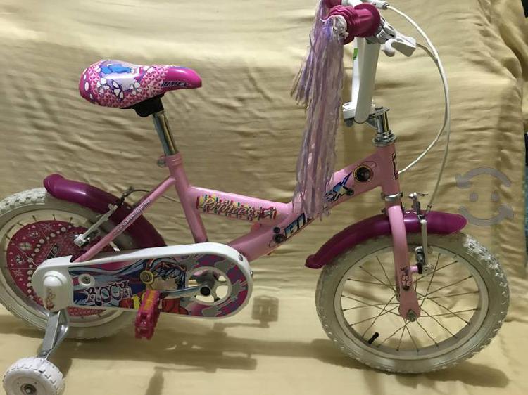 Bicicleta bimex princess r16 niña 4 a 8 años