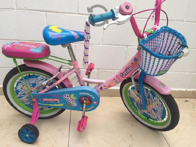 Bicicleta infantil niña rodada 16