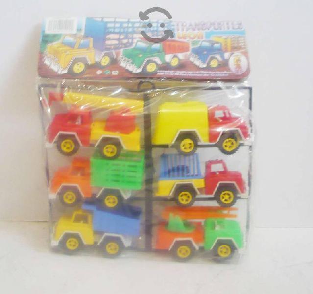 Camion redilas volteo set de 6 camioncitos
