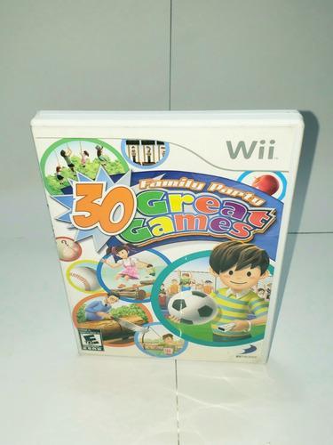 Family Party 30 Greate Games / Juego Para Nintendo Wii/usado