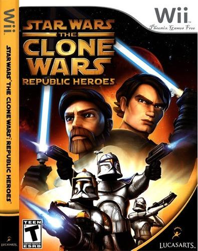 Juego star wars the clone wars republic heores wii