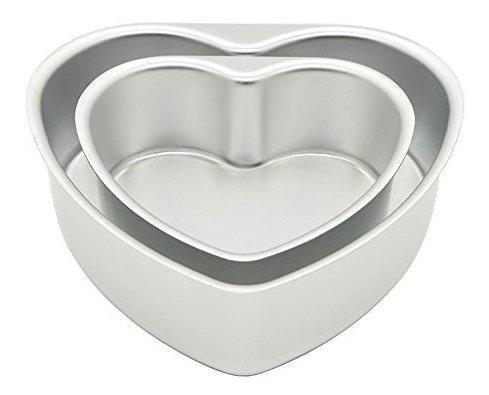 Lepohome 2 piezas de aluminio en forma de corazã³n juego d