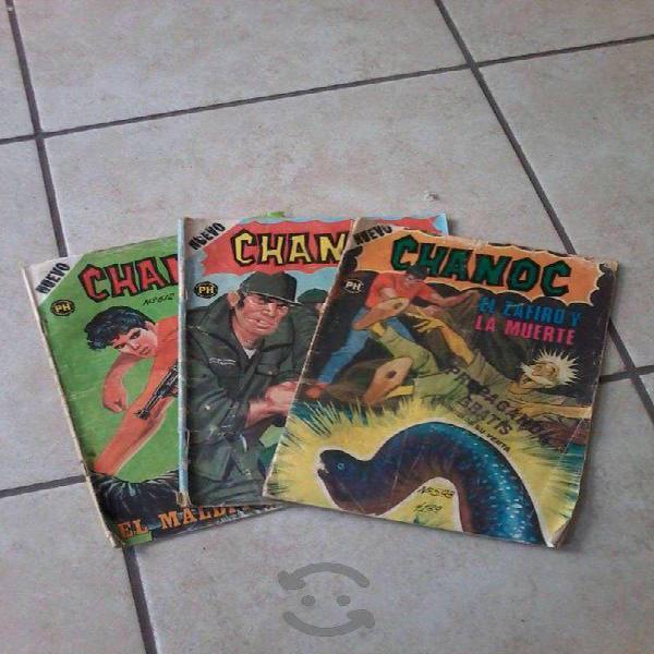 Lote 3 ejemplares comic chanoc