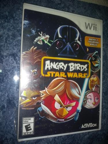 Nintendo wii wiiu video juego angry birds star wars original