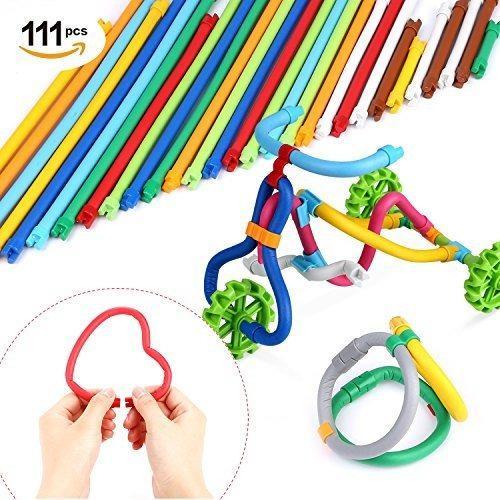 Peradix soft building sticks toys 111 pcs niños stem learni