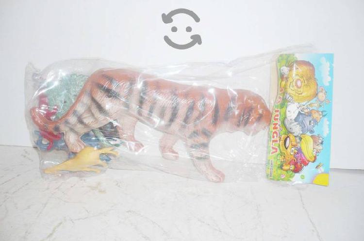 Tigre paquete jungla con animales maqueta juguete