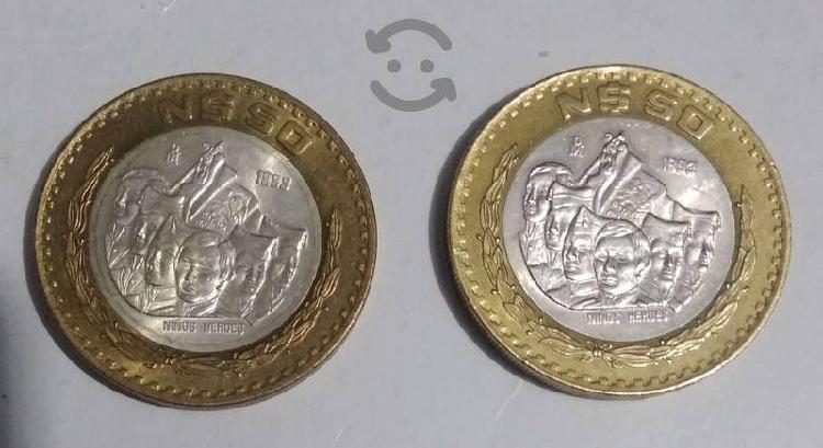 Venta de monedas nuevos pesos de $50 y $20