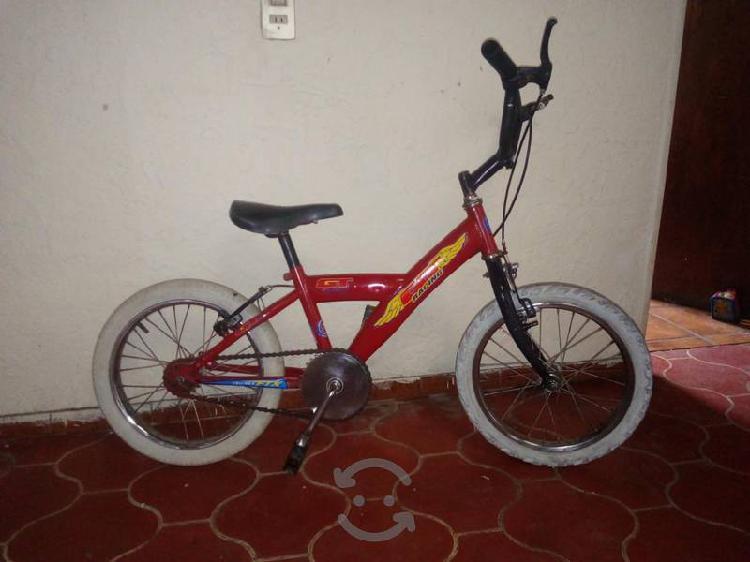 Bicicleta rodado r16 llantas blancas
