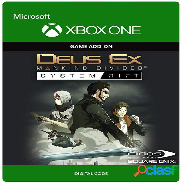 Deus ex: mankind divided system rift, xbox one - producto digital descargable