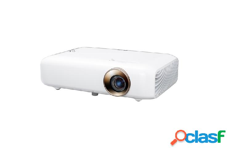 Proyector lg minibeam ph550 dlp, 720p (1280x720), 550 lúmenes, con bocinas, blanco