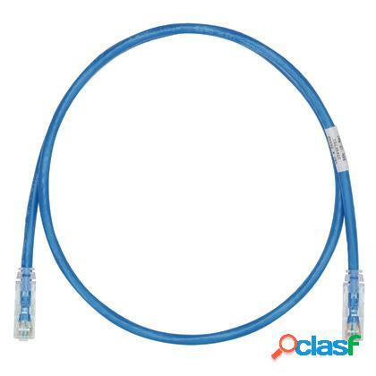 Panduit cable patch cat6 utp 28awg, rj-45 macho - rj-45 macho, 90cm, azul