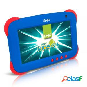 Tablet ghia any kids q+ 7'', 8gb, 1024 x 600 pixeles, android 5.1, wlan, azul/rojo
