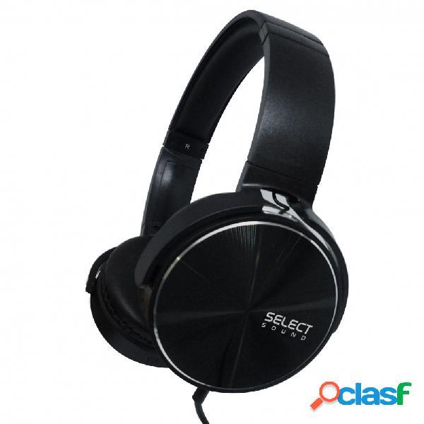 Select sound audífonos h100, alámbrico, 1.5 metros, 3.5mm, negro