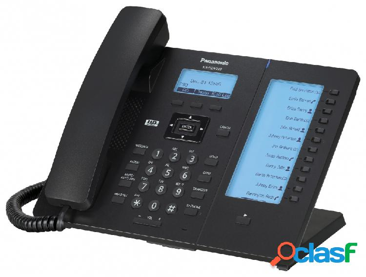 Panasonic teléfono ip con pantalla 2.3'' kx-hdv230xb, altavoz, 6 lineas, negro
