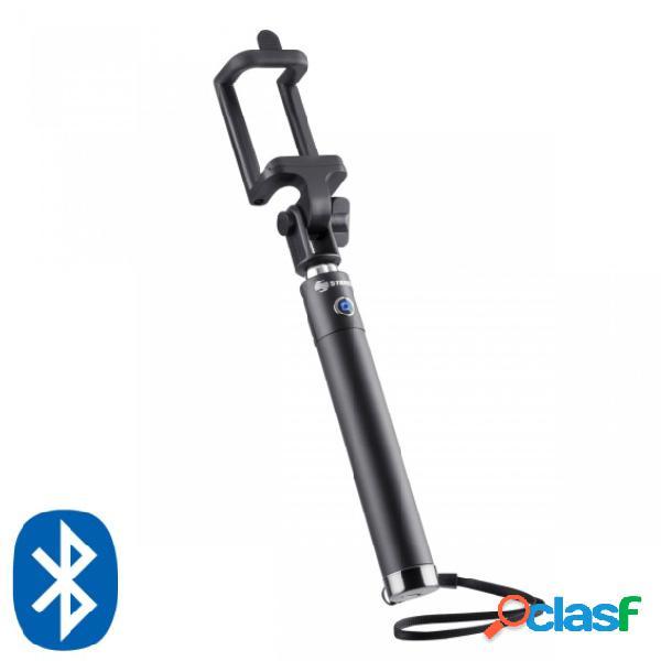 Steren selfie stick universal bluetooth, android/ios, 70cm, negro/plata