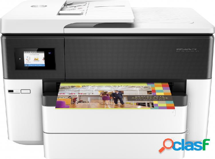 Multifuncional hp officejet pro 7740 de formato ancho, color, inyección, inalámbrico, print/scan/copy/fax
