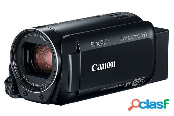 """Cámara de video canon vixia hf r82, pantalla lcd 3"""", 3.3mp, zoom óptico 32x, negro"""