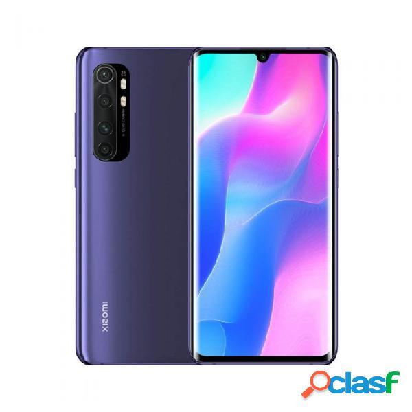 "Smartphone xiaomi mi note 10 lite 6.4"" dual sim, 2340 x 1080 pixeles, 128gb, 6gb, 4g, android 10, morado"