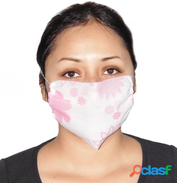 Ventronic cubrebocas pellón impermeable grueso para adulto, 6 - 8 horas, rosa, 100 piezas