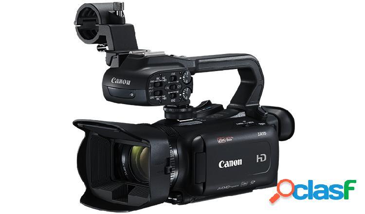 Cámara de video canon xa15, pantalla lcd 3'', 3.09mp, zoom óptico 20x, negro