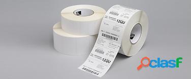 Zebra rollo de etiquetas z-perform 2000d, 4'' x 4'', 640 etiquetas, blanco