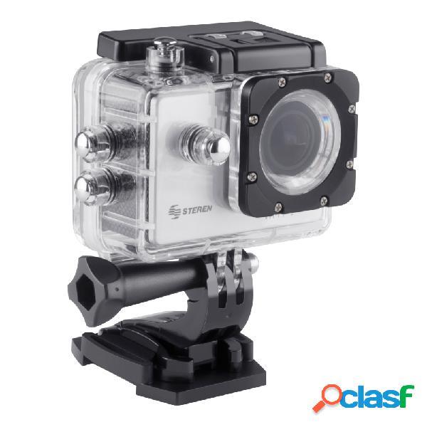 Cámara deportiva steren cam-500, 5mp, full hd, microsd max. 32gb, negro/blanco