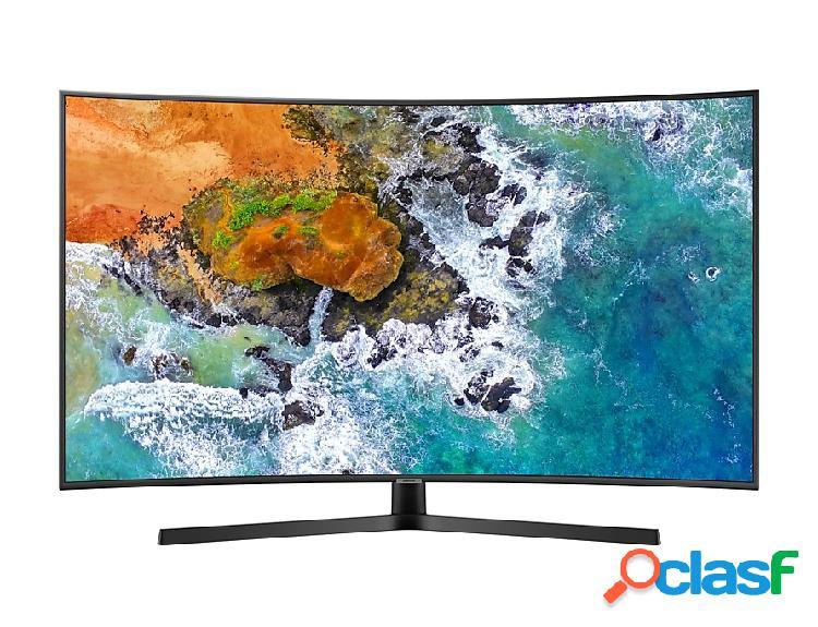 Samsung Smart TV Curva LED NU7500 55'', 4K Ultra HD, Widescreen, Negro/Plata