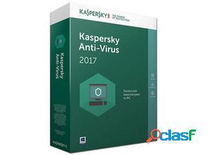 Kaspersky anti-virus 2017, 3 usuarios, 1 año, windows