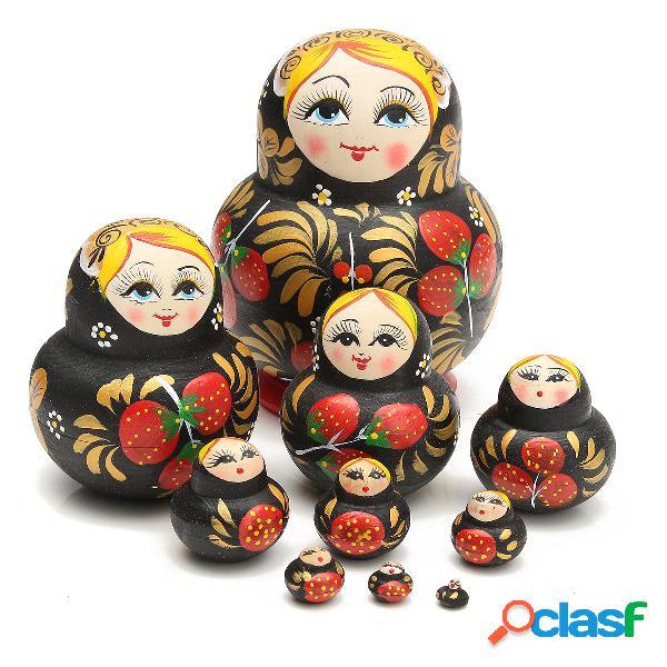 Juguetes hechos a mano de madera de los juguetes de los juguetes intelectuales de los juguetes de la fresa de 10pcs