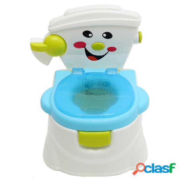 Niños niños simulador desmontable silla de entrenamiento de wc aprendizaje temprano pee trainer baño