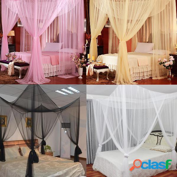 190x210x240cm ropa de cama de cuatro puertas mosquitera cama queen antimosquitos tela de malla de poliéster de verano